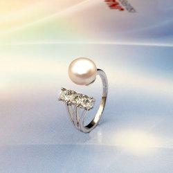方法宝石類925の純銀製の女性のためのギフトとして淡水の真珠のリング