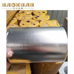 Тканый Самоклеющиеся волокна ткани из стекловолокна трубопровода из алюминиевой фольги протягивания