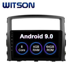 三菱車のDVDプレイヤーの2006-2012年のPajero 4GB RAM 64GBのフラッシュ大きいスクリーンのためのWitsonのアンドロイド9.0のタッチ画面車DVD GPS