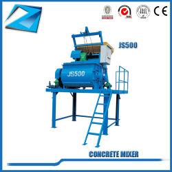 De model Dubbele Horizontale Schachten Js500 dwongen Concrete Mixer voor het Maken van de Baksteen Machine
