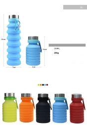 Faltbarer hitzebeständiger Silikon-beweglicher Kessel-faltende Cup-Wasser-Flasche
