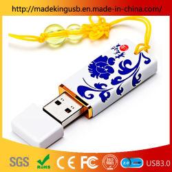 محرك أقراص USB محمول جديد مصنوع من الخزف الأزرق والأبيض الخزفي