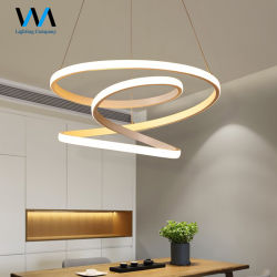 220V現代LEDの吊り下げ式のシャンデリアは食堂の居間のためのランプをつける