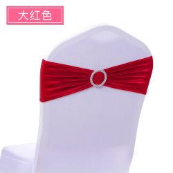 Wedding와 Banquet의 Chair를 위한 Buckle를 가진 Decorational Metallic Spandex Sash