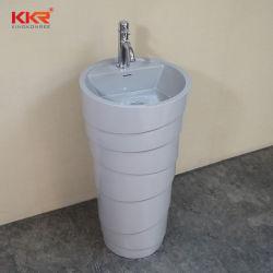 Granja al por mayor de resina de Kkr aunque baño LAVABO lavabo de pedestal de piedra