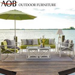 رفاهية [شنس] خارجيّة فندق حديقة يثبت أثاث لازم ألومنيوم مربّعة طاولة أريكة مع مظلة