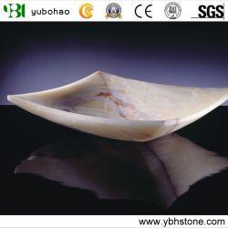 Amarillo natural chino /blanco/ negro Onyx/ piedra de granito y mármol lavabo/lavabos para baño de la vanidad del rectángulo cuadrado//Oval