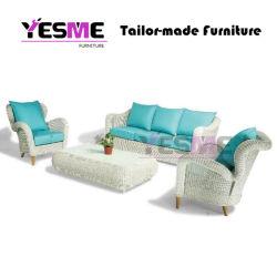 El chino moderno sofá Jardín al aire libre Home Hotel Salón de mimbre redonda conjuntos de Rattan silla mesa Ocio fábrica de muebles de aluminio