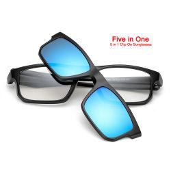 Nessuna clip polarizzata a buon mercato all'ingrosso di MOQ sugli occhiali da sole di vetro, lancia sugli occhiali da sole