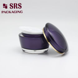 Peinture Crème visage cosmétiques tambour violet 50g Jar