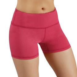 Frauen arbeiten festes und bequemes ohne Taschen-undurchlässiges Normallack-Sport-Yoga-Minihosen um