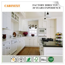 Цельная древесина Американский стандартный белый кухонным шкафом вибрационного сита