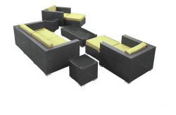 Establecen nuevo sofá de mimbre del patio jardín mobiliario de exterior