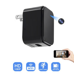 D8 벽 충전기 HD1080p 소형 WiFi에 의하여 숨겨지는 IP 사진기 아기 모니터 주택 안전 부속품 (wc001d8)