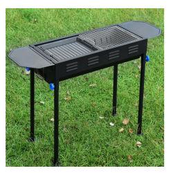 Grote Manier 2 die de Multifunctionele Grill van de Barbecue van de Houtskool van het Ijzer met het Braden van Plaat en Tang gebruiken