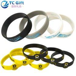 Custom резиновые спорта энергии шелк стекле силиконовый бить Smart браслет с маркировкой комара выштампованного Debossed кремния браслет для рекламных подарков