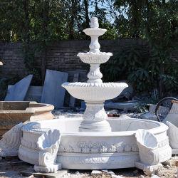 Encimeras de mármol tallado en piedra al aire libre Jardín Fuente de agua para la decoración (GSF-243)
