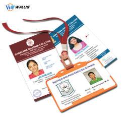 Scheda di insieme dei membri libera trasparente di plastica impermeabile di nome Card/VIP di affari della scheda di affari del PVC del getto di inchiostro stampabile su ordinazione