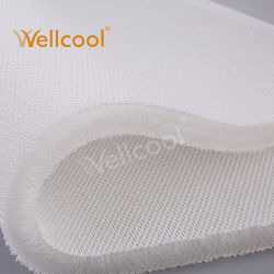OEM Wellcool 100 % polyester Tissu lavable de l'air Mesh 3D'entretoise 20mm pour matelas