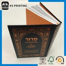 PU Capa de couro tiras Estampagem Bíblia em cores Impressão de livro livro de capa dura