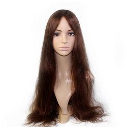 Máquina fabricada con piel inyecta trama Mono superior delantera de encaje para la Mujer de reemplazo de cabello