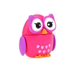 Red Owl Cartoon PVC USB-Flash-Laufwerk Geschenke Cartoon USB Personalisierte Geschenke 256 GB
