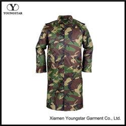 남성용 여성용 카무플라주 방수 재킷 롱 레인 코트
