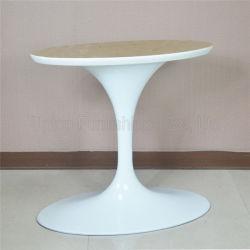 (SP-библиотеки ATL001) элегантный белый алюминий овальный Tulip основания стола