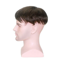 изготовленный на заказ<br/> моно кружева с PU вокруг - реального человеческого волоса на Durablity, комфорт и стиль для мужчин выбор первой Toupee парики