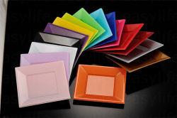 7'' (18 cm) S071819 PS descartáveis coloridos de plástico placa quadrada para a parte