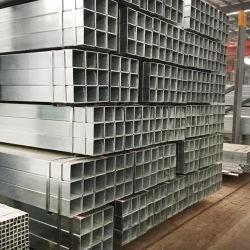 2X4 ASTM A500の等級B Shsスクエアおよび長方形の鋼管の厚い壁は正方形の炭素鋼の管によって電流を通された長方形の鋼鉄GIの正方形の管の管に電流を通した