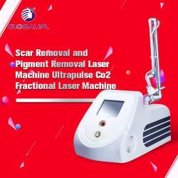 Скар снятие Super Сканирование частоты пульса медицинских лазерных 10600 Нм лазерный CO2 дробные