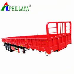 3 Assen Fuwa 30 Ton de Lading stortgoed die van 60 Ton de Open Aanhangwagen van de Vrachtwagen van de Zijgevel van de Container Semi Vervoer