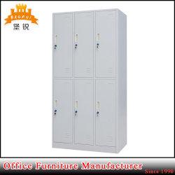 Tür-Schlafzimmer-Garderobe der Stahl-hängende Kleidung-sechs