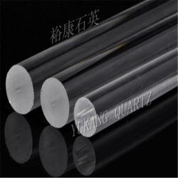 قضبان زجاجية مزودة بمنصهر شفاف/شفاف من الكوارتز أرجحية من 2 مم إلى 80 مم ذات نقاء عالية