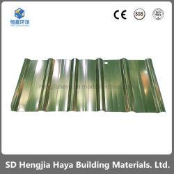 Couleur durable Revêtement de toit de profilage de métal galvanisé Feuilles d'acier pour jeter