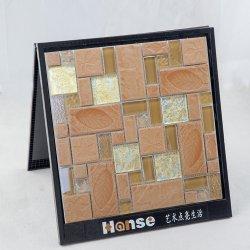 300x300 moderne en verre céramique tuiles de mosaïque frontières mixte Salle de bains