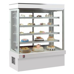 Le ventilateur de refroidissement vitrine à gâteaux permanent de plancher