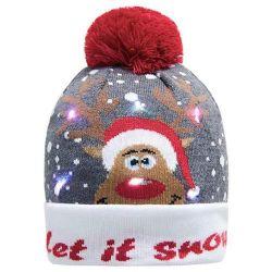 Chandail de laide de l'acrylique Beanie Light up chapeaux