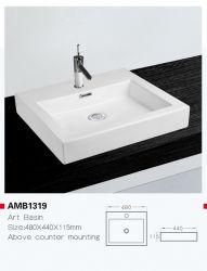 Amb1319新しいデザイン浴室の虚栄心手の洗浄流しの衛生製品