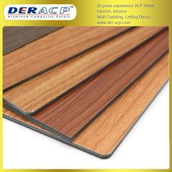 4mm/0.3mm hölzernes Oberflächenzusammengesetztes Acm Aluminiumpanel für Aufbau-Wand-Material