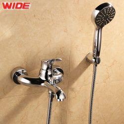 Cupc único cuarto de baño de cromo de la aprobación de empuñadura de latón Mezclador de ducha