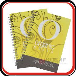 Couvercle en plastique jaune spirale personnalisé de l'exercice de la composition d'impression Livre d'ordinateur portable