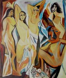 Peinture d'huile Abtract de Picasso