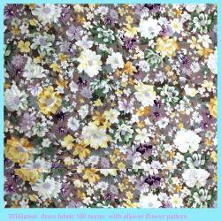 Tessuto di rayon floreale chimico di stampa del tessuto 60s per l'abbigliamento delle donne