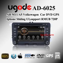 Arm11 A5 DVD стерео плеер для Volkswagen Golf Jetta Passat Touran Tiguan Magotan GPS двумя способами Canbus поддержка Aircondtion OPS (AD-6025)