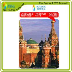 Utilizado en el exterior de PVC flexible laminado Frontlit Publicidad Banner (RJLF006)