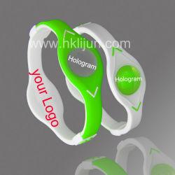 L'énergie bracelets en silicone avec bandes d'alimentation avec logo personnalisé