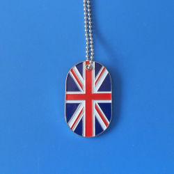 L'émail doux fer drapeau britannique Dog Tag necklace (ASNY-LUDT903)