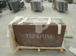 Matériaux de construction de la pierre naturelle de l'Inde granit rouge pour les dalles de comptoir de cuisine & Tile